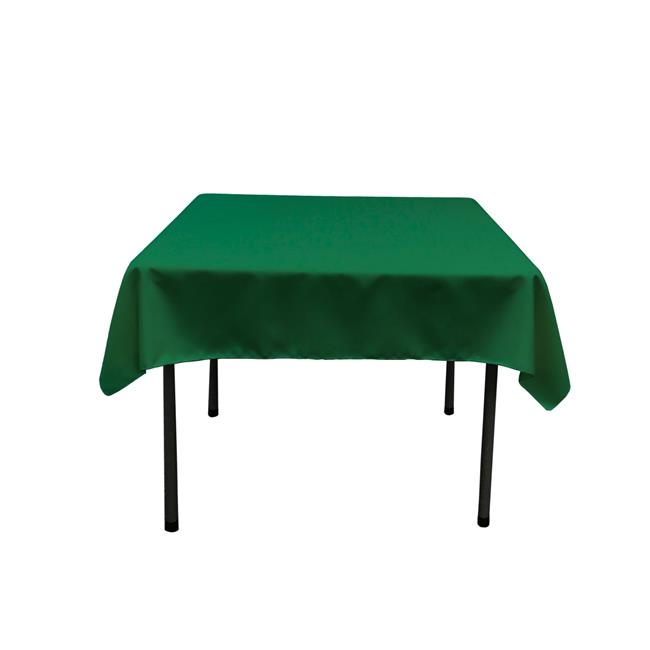 LA Linen TCpop52x52-GreenEmP32 Polyester Poplin Square Tablecloth, Emerald Green 52 x 52... by