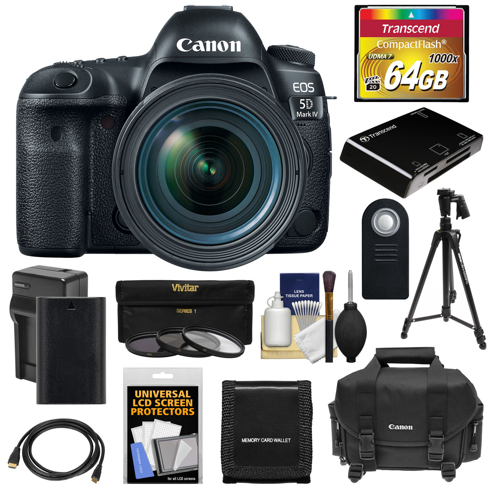 canon eos 5d mark iv 4k wi fi digital slr camera & ef 24