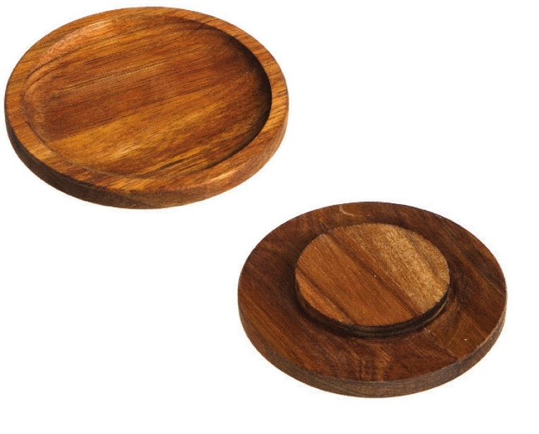 Cypress Home Acacia Wood Wine Glass Appetizer Plate Set of 2  sc 1 st  Walmart & Cypress Home Acacia Wood Wine Glass Appetizer Plate Set of 2 ...