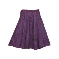 Mogul Womens Fashionable Floral Printed Cotton Maxi Skirt