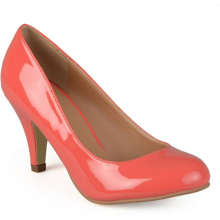 Womens Round Toe Patent Pumps