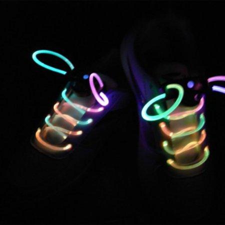 Novel LED Nylon Shoelaces Light Up Flashing Shoe Laces for Christmas Gift - image 3 of 6