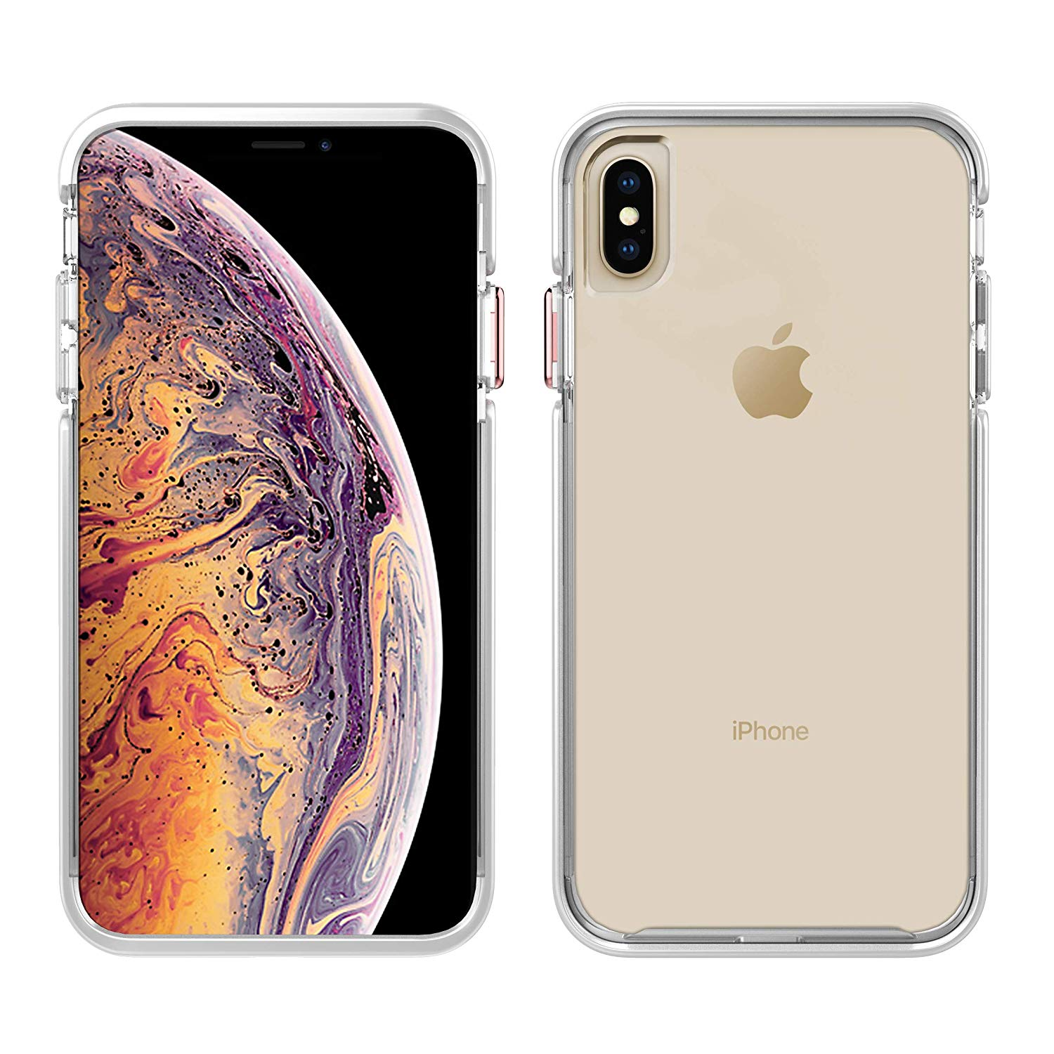 Pelican Ambassador Slim Stylish Case For Iphone Xs Max Clear White Rose Gold Walmart Com Walmart Com