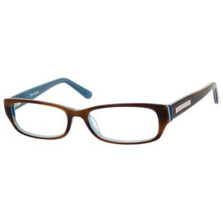 JUICY COUTURE Eyeglasses 125 01PR Havana Blue (Leopard Eyeglasses)