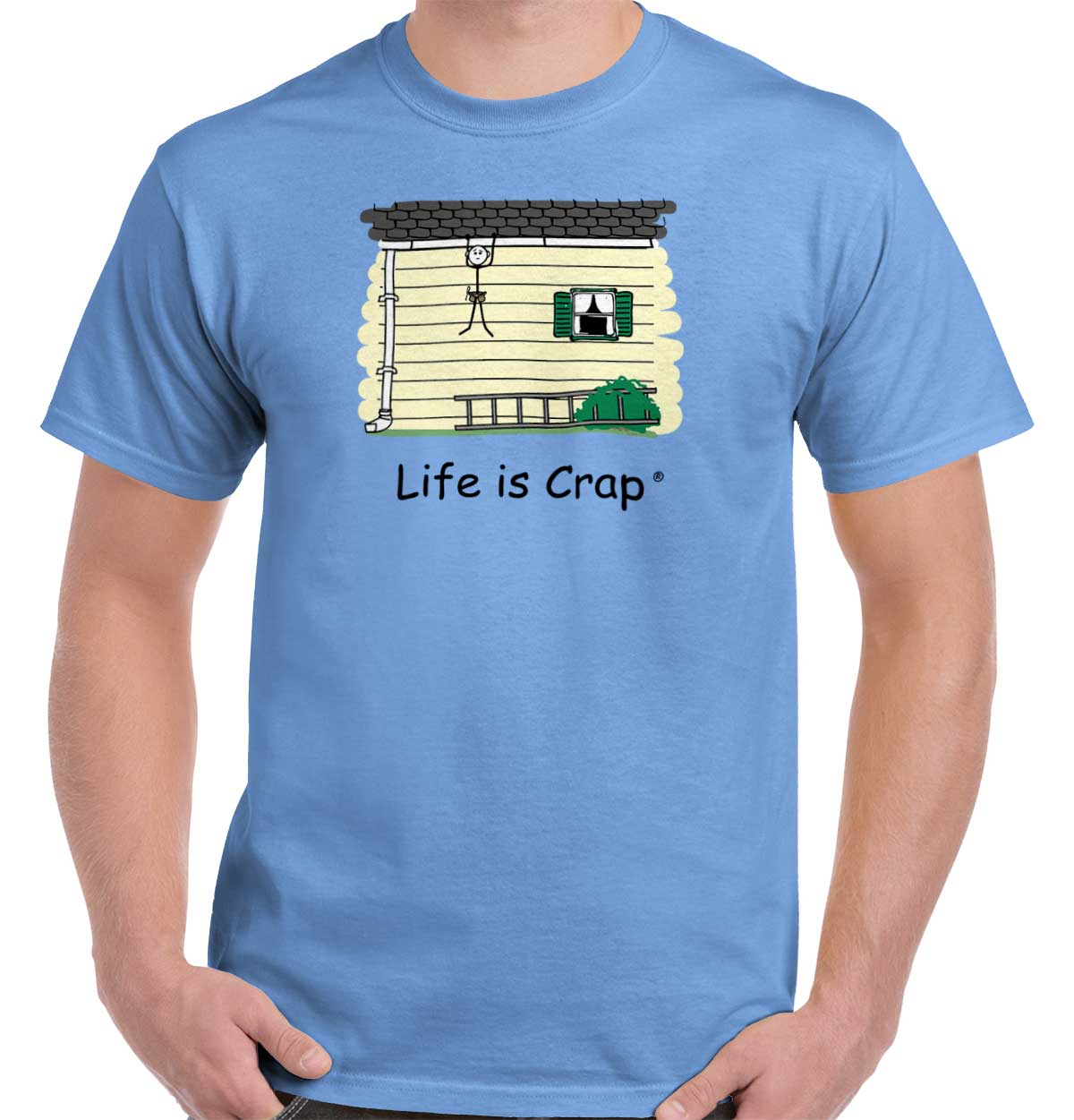 Life is Crap Lost Ladder Funny Shirt | Cute Adult Gift Idea T-Shirt Tee
