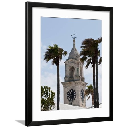 Clock Tower (Mall) at the Royal Naval Dockyard, Bermuda, Central America Framed Print Wall Art By Michael (Tower Place Mall)