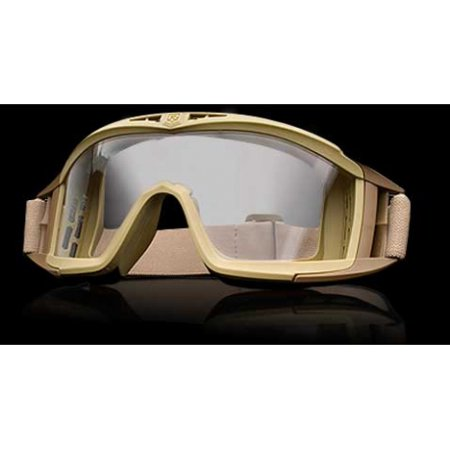 Revision Eyewear Desert Locust Goggles - Revision Eyewear Desert Locust Goggles Basic Kit - Clear Lens, Tan Frame - 40309