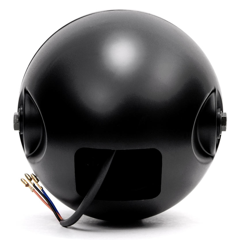 "Krator 7"" Black LED Motorcycle Headlight w/ Side Mounting Running Light High / Low Beam for Yamaha Road Star Silverado XV Midnight - image 5 of 6"