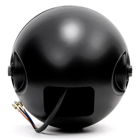 "Krator 7"" Black LED Motorcycle Headlight w/ Side Mounting Running Light High / Low Beam for Harley Davidson Softail Fat Boy FLSTF - image 5 de 6"
