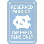 NCAA North Carolina Tarheels Parking Sign