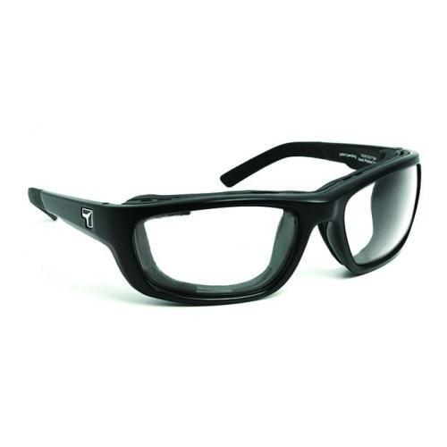 Image of 7 Eye Ventus AirShield Sunglasses, Matte Black Frame, SharpView Clear Lens,S-M 130