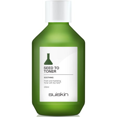 SEED TO TONER [SUISKIN] 100% Natural Daily Skin Moisturizer Herbal Organic Skin Soothing, Nourishing Facial