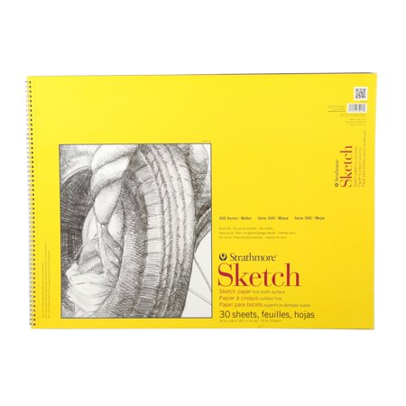 Strathmore Sketch Paper Pad, 300 Series, Spiral-Bound, 18in x 24in, 30 Sheets