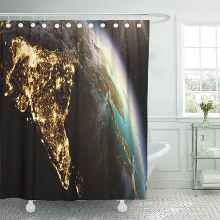Green Zone Maps (KSADK Green Planet Earth Zone of This by NASA Blue Globe Satellite Map Shower Curtain Bathroom Curtain 66x72)