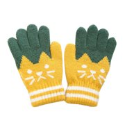 Wassery Baby Girls Boys Winter Warm Knitted Magic Gloves Thick Full Mittens Finger Protector