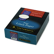 """Southworth® Cotton Linen Business Paper, 8 1/2"""" x 11"""", 24 Lb, 55% Recycled, FSC® Certified, Gray, Box Of 500"""