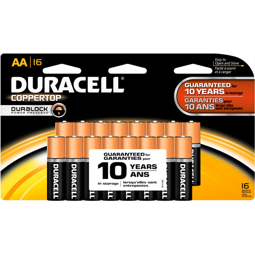 Duracell Coppertop AA Household Batteries Doublewide 16 Count Pack
