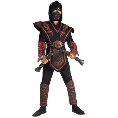 Morris Costumes Boys Red Skull Warrior Ninja Child Costume 12-14, Style RU882152LG