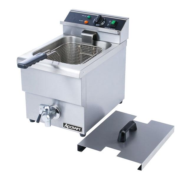 Adcraft Stainless Steel 208V Single Basket Deep Fryer Wit...