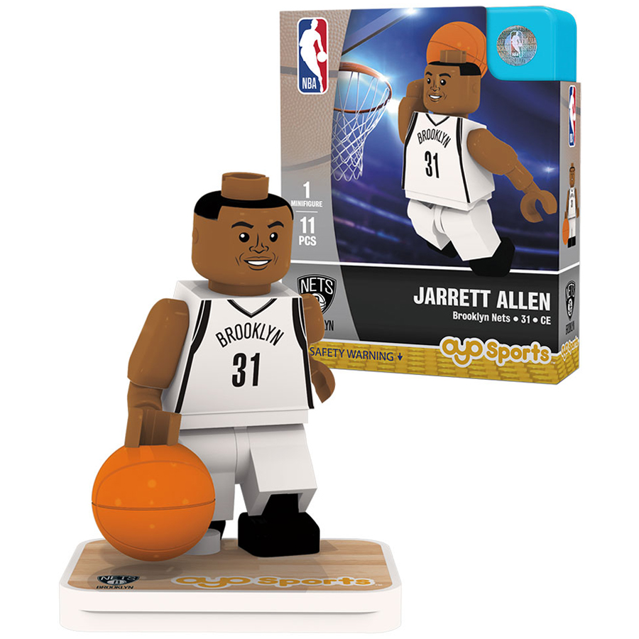 Jarrett Allen Brooklyn Nets OYO Sports Home Jersey Player Minifigure - No Size