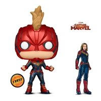 Warp Gadgets Bundle - Funko Pop Marvel Captain Marvel Masked Chase and Figpin - Captain Marvel - Collectible Enamel Pin (2 Items)