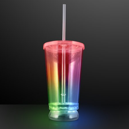 FlashingBlinkyLights Multicolor LED Light Up To-Go Cup Tumbler