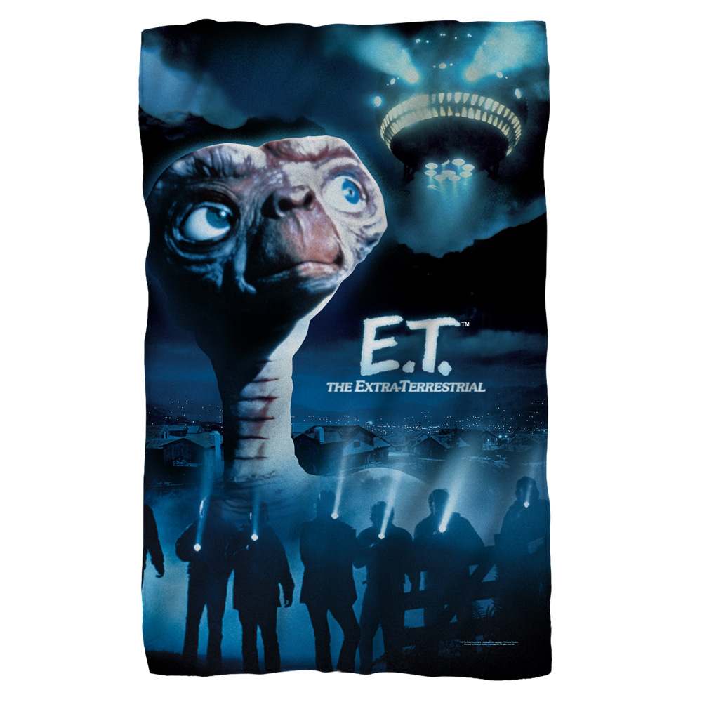 Et Title Fleece Blanket White 48X80
