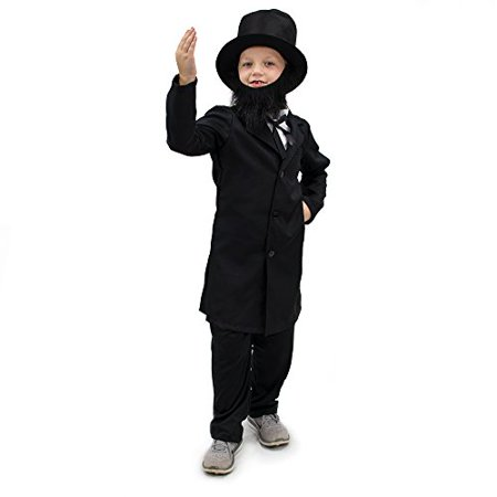 Boo! Inc. Honest Abe Lincoln Children's Boy Halloween Dress Up Roleplay Costume - Short Black Dress Halloween Costume