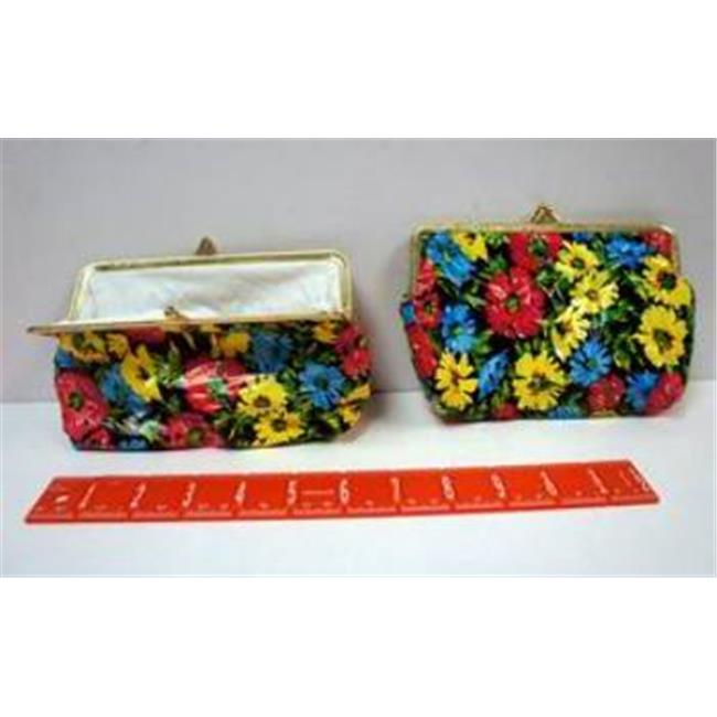 Bulk Buys Floral Design Snap-Closure Coin Purse Wallet - Case of 72