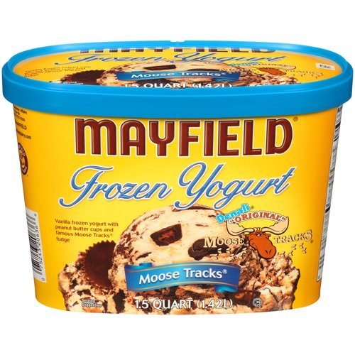 Mayfield Denali Original Moose Tracks Frozen Yogurt, 1.5 qt