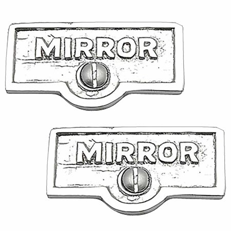 2 Switch Plate Tags MIRROR Name Signs Labels Chrome Brass | Renovators Supply