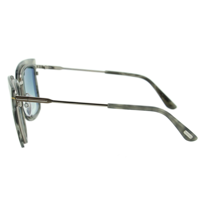 32f098b2ec Tom Ford - Tom Ford Lara-02 FT0573 55X Women Gray   Mirrored Light Blue Square  Sunglasses - Walmart.com