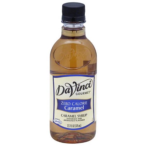 DaVinci Gourmet Zero Calorie Caramel Syrup, 12.7 fl oz, (Pack of 6)