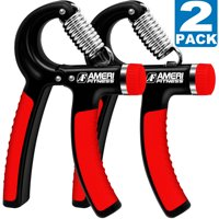 Hand Grip Strengthener Strength, Ameri Fitness Increasing Hand Wrist Forearm Trainer Exerciser, Adjustable Resistance 22-88 Lbs, Non-slip Gripper (2 Pack)