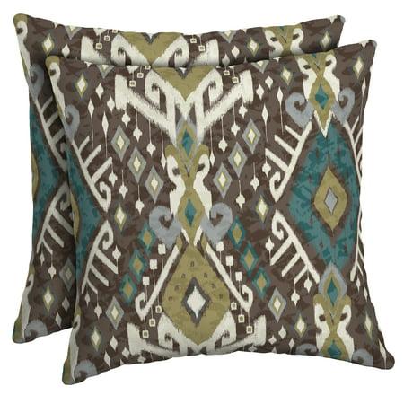 2pk Tenganan Square Outdoor Throw Pillows - Arden Selections