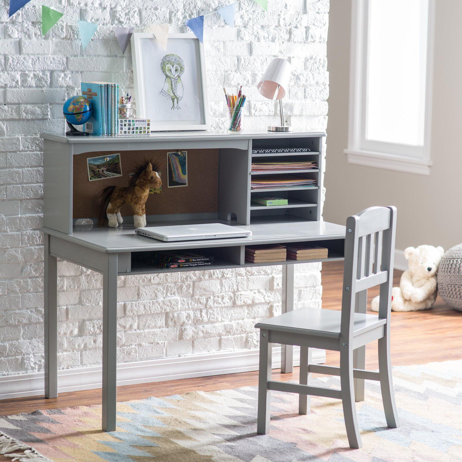 Guidecraft Media Desk Amp Chair Set Gray Walmart Com