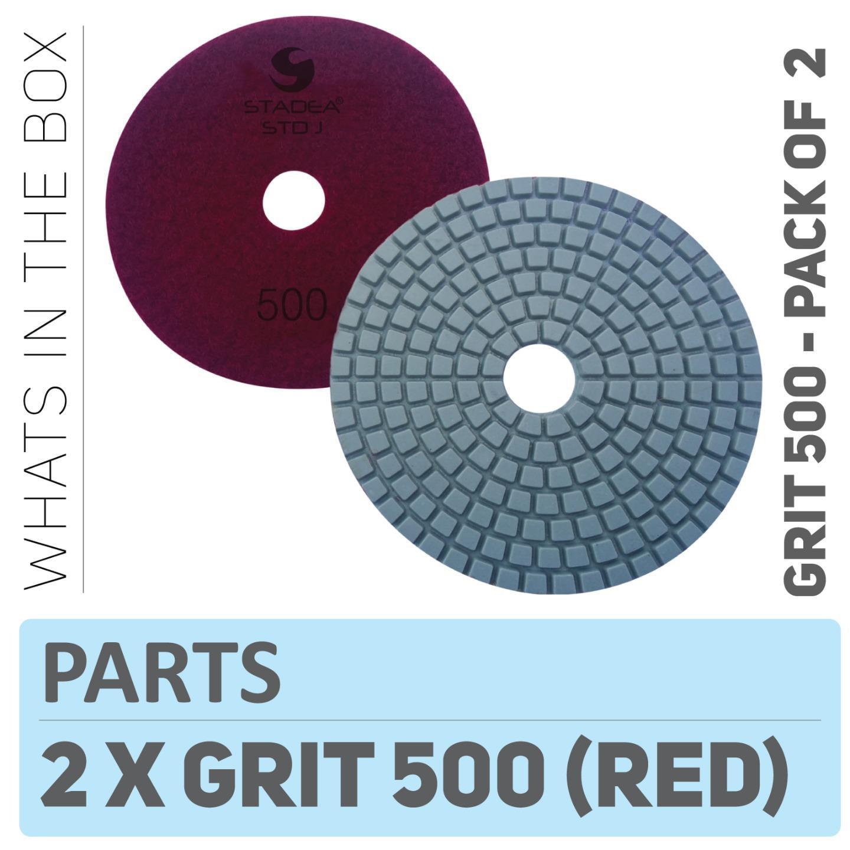 Stadea Ppw124d Diamond Polishing Pads 4 For Concrete Terrazzo Marble Stone Granite Edge Countertop Floor Wet Polishing Grit 500 Pack Of 2