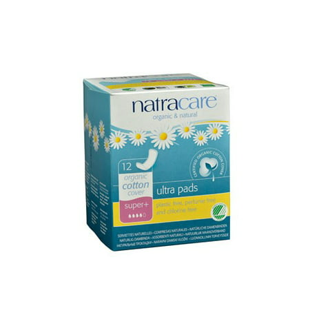 Natracare Organic Maternity Pads Natural - Natracare Natural Ultra Pads Super Plus w/organic cotton cover -  12 Pack