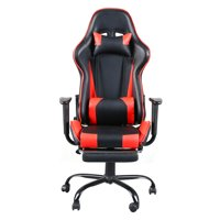 Gaming Chair Office Chair High Back Computer Chair PU Leather Desk Chair PC Racing Executive Ergonomic Adjustable Swivel Task Chair with Headrest and Lumbar Support