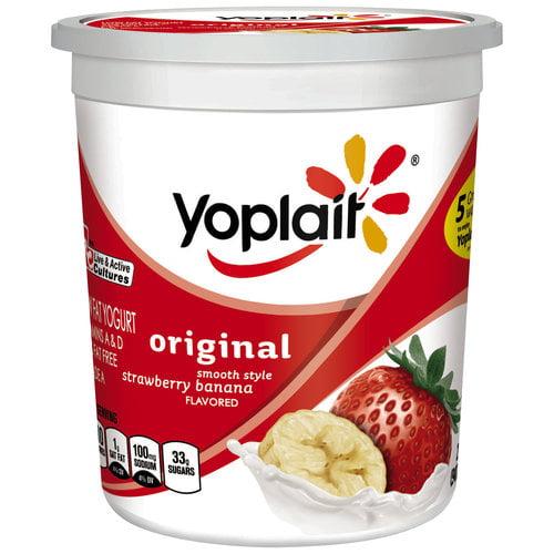 Yoplait Creamy Strawberry Banana Grande Yogurt, 2 lb