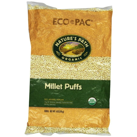 Nature's Path Organic Millet Puffs Cereal, 6 Ounce Bags