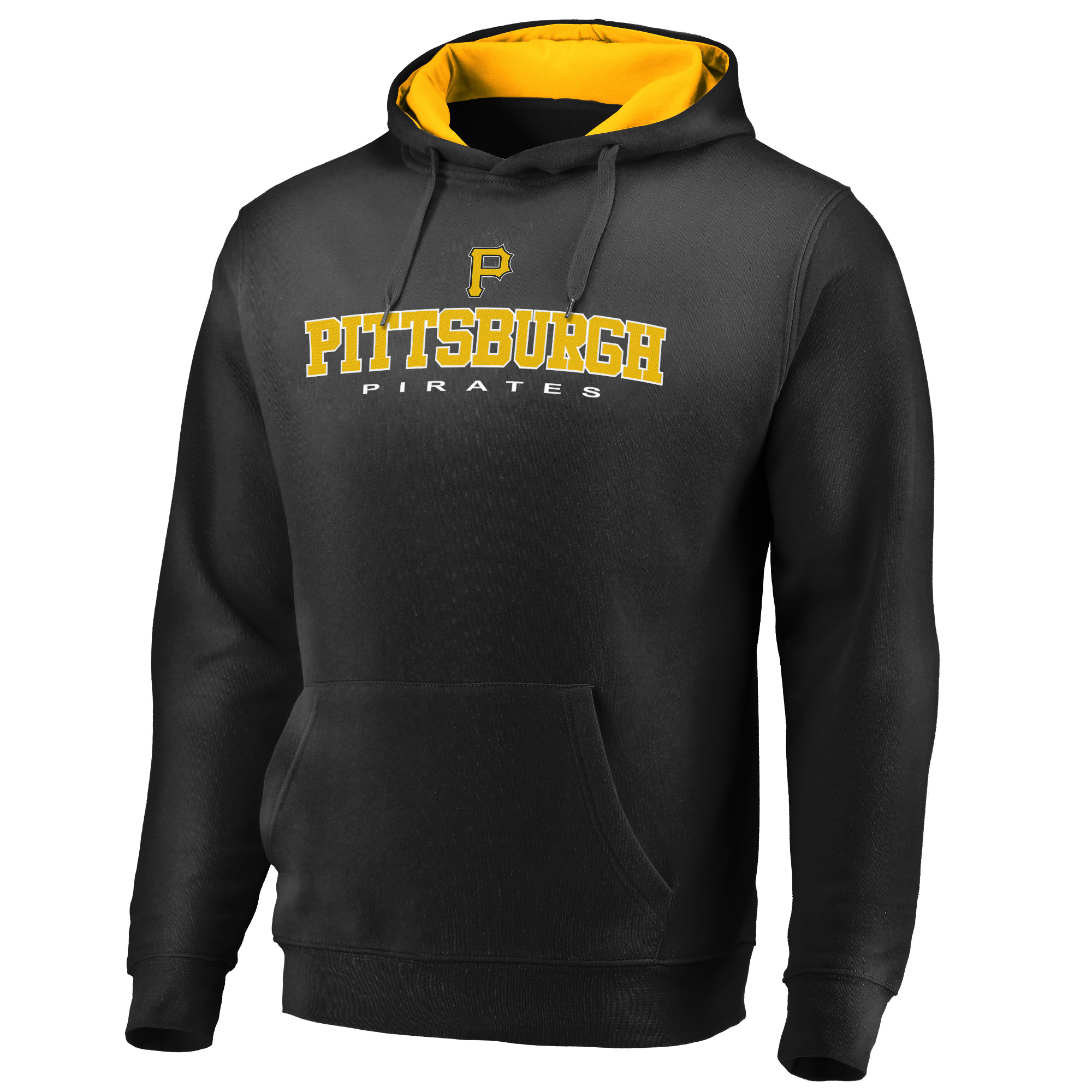 Men's Fanatics Branded Black Pittsburgh Pirates Big & Tall Block Lineup Zone Fleece Pullover Hoodie