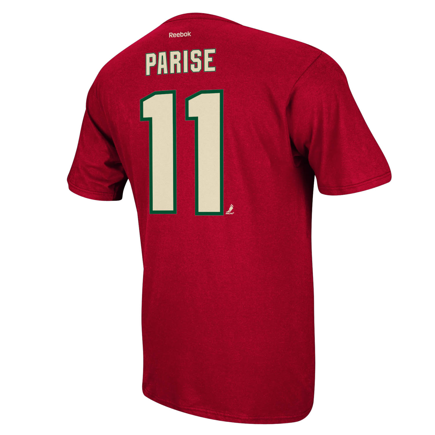 Minnesota Wild Zach Parise Reebok NHL Player T Shirt Men Red