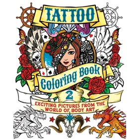 Tattoo Adult Coloring Book - Walmart.com