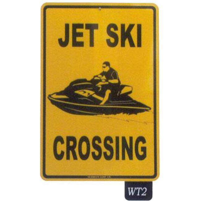 Seaweed Surf Co WT2 12X18 Aluminum Sign Jet Ski Crossing