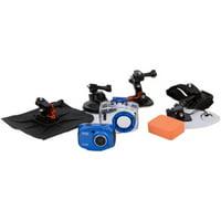 Vivitar DVR786HD 1080p HD Waterproof Action Video Camera Camcorder (Black) with Remote, Helmet & Bike Mounts