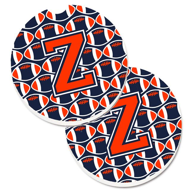 Carolines Treasures Cj1066 Zcarc Letter Z Football Orange With Blue