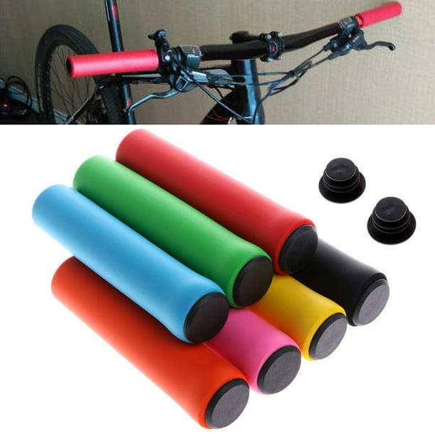 Black Handlebar Grips-Bicycle Cycling Handle Bar Anti-Slip Grips Lock On Mountain Bike Handlebar Grips