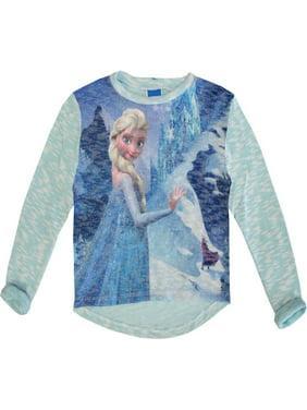 728d6ea95 Product Image Disney Little Girls Blue Elsa Frozen Winter Print Long Sleeved  Top 4-6X