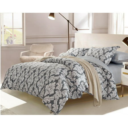 Swanson Beddings Medallion 3-Piece 100% Cotton Bedding Set: Duvet Cover and Two Pillow Shams (Oversized King)